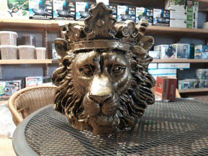 Bloempot leeuwenkop goud